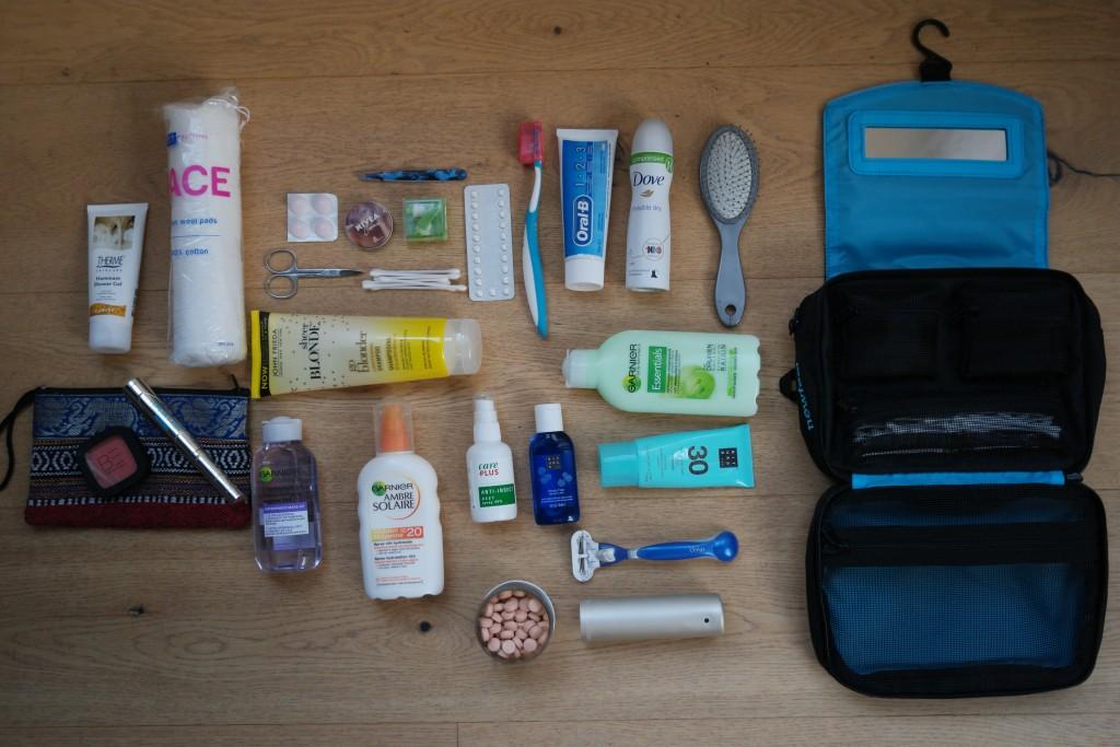Toiletspullen backpacken