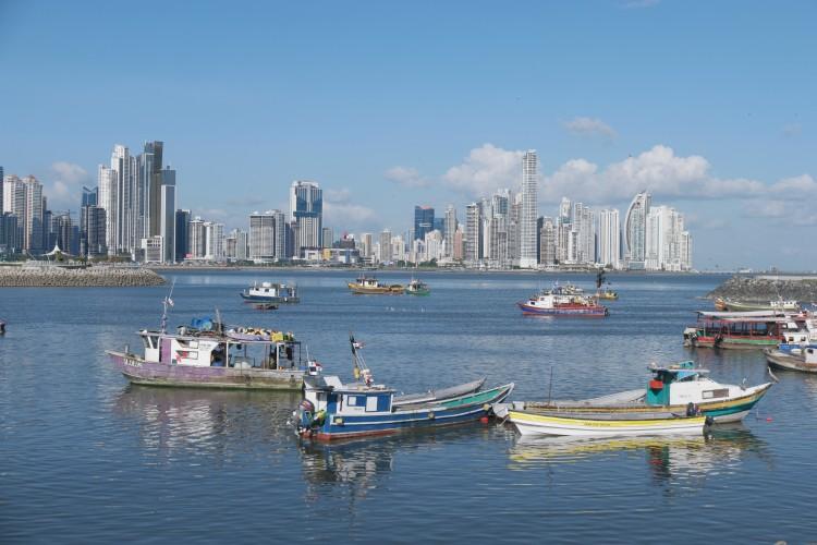 Panama city contrast
