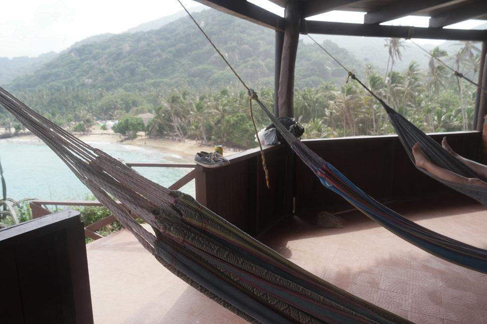 Mirador hangmat Tayrona nationaal park
