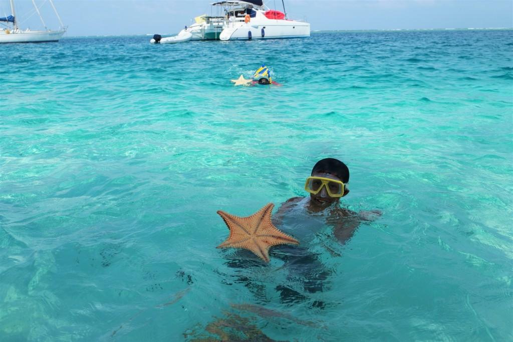 San Blas eiland zeilen Zeester