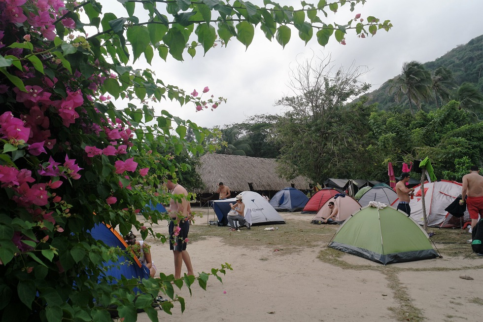 kamperen Tayrona nationaal park