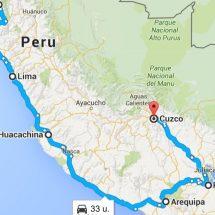 peru kaart route 2