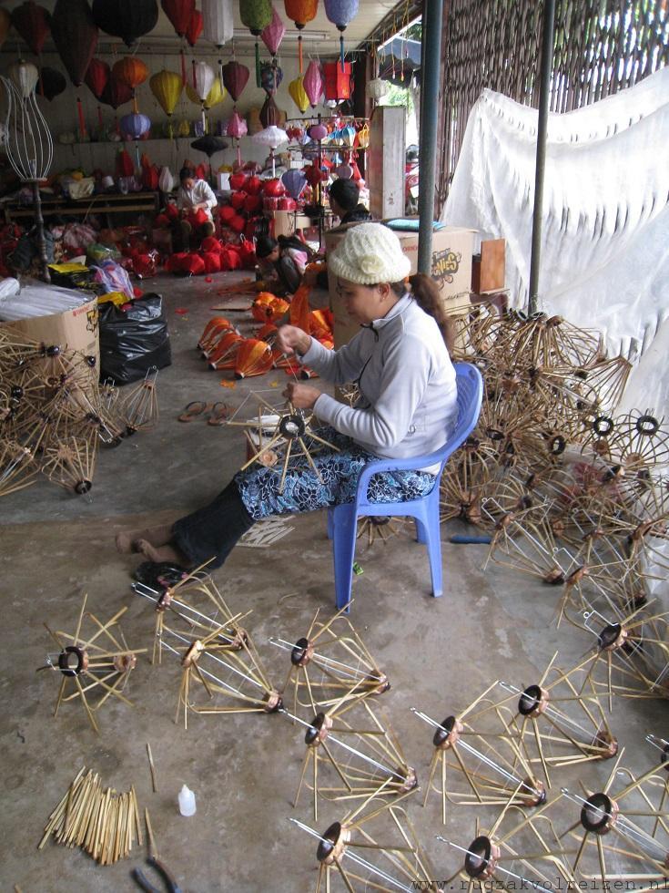 Hoi An lampionnen fabriek Vietnam 1