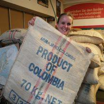 jutten koffiezakken Colombia