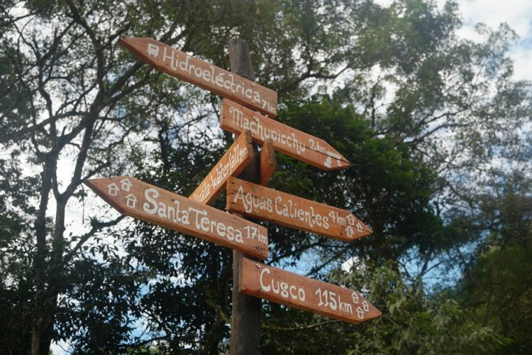 Signs Machu Picchu