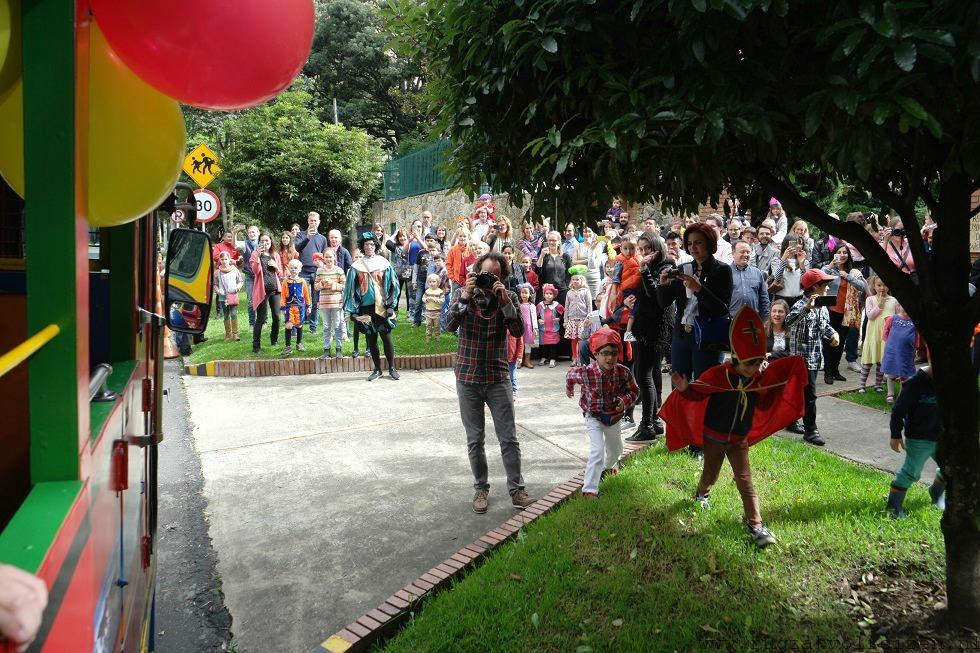 Sinterklaas Bogota ontvangst