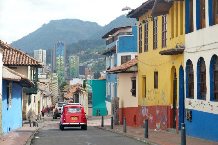 Bogota straatbeeld