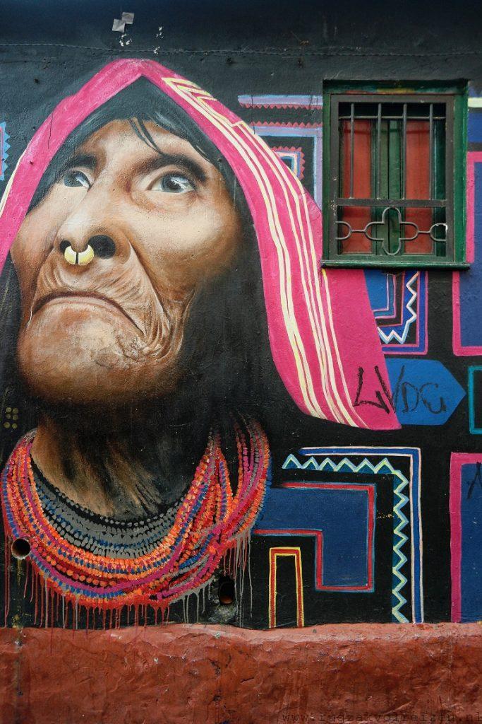 Kuna graffiti Bogota