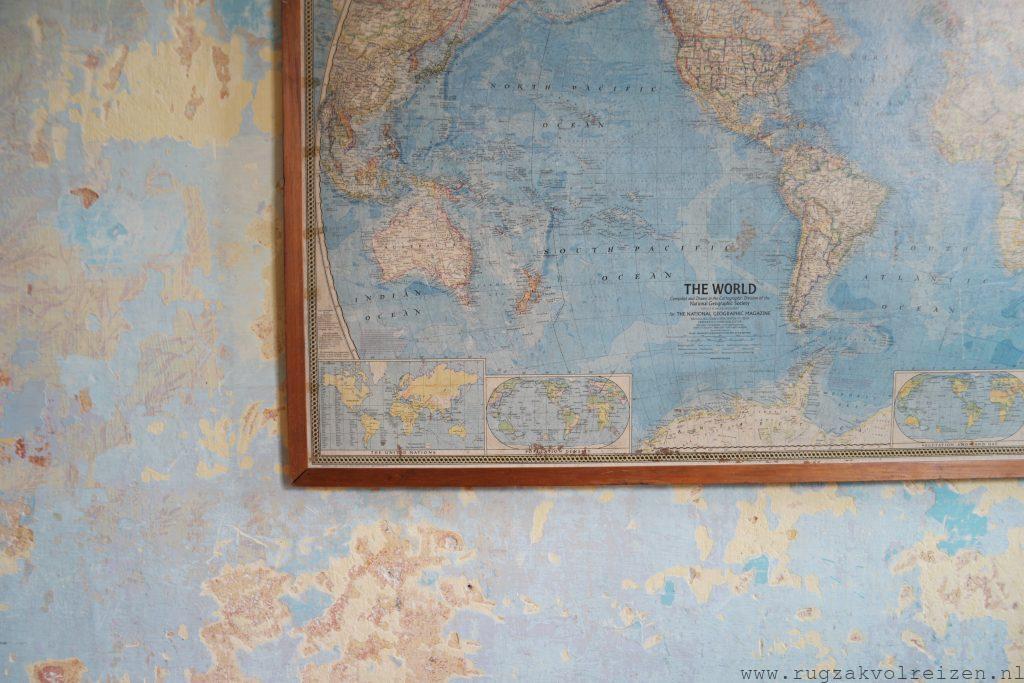 Wereldkaart Montevideo