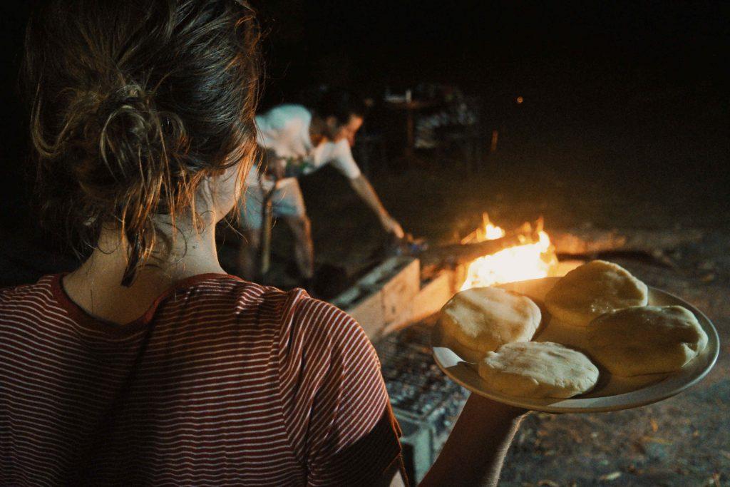 Vuur maken voor de asado