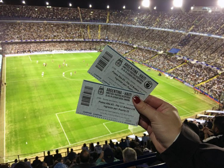 throwback mei: Voetbalwedstrijd Argentinië